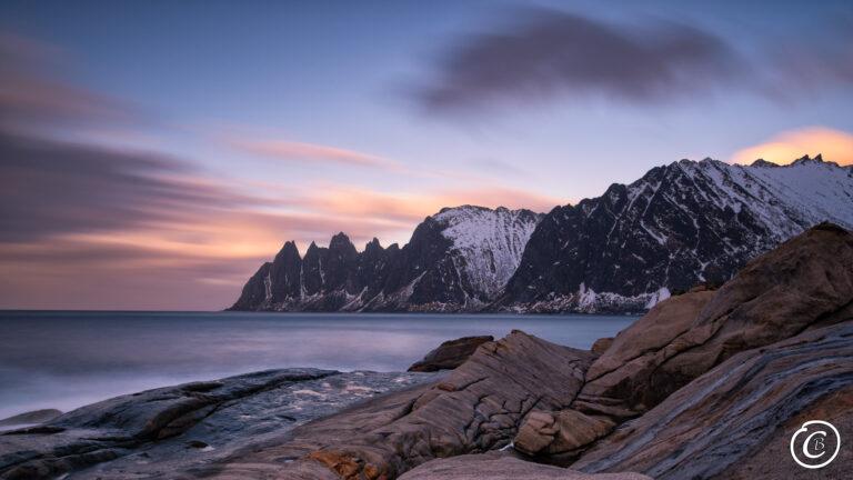 Tungeneset am ERsfjord auf der Insel Senja