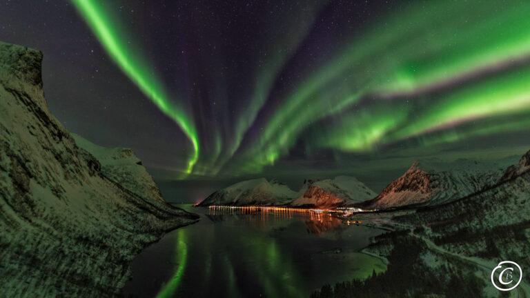 Polarlicht am Bergsbotn Insel Senja