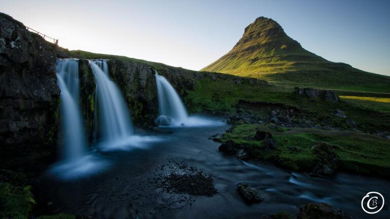 Kirkjufell Wasserfall Island